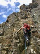 Rock Climbing Photo: Starting Kopley's Corner, a fun line with rela...