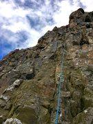 Rock Climbing Photo: About half way up Kopley's Corner