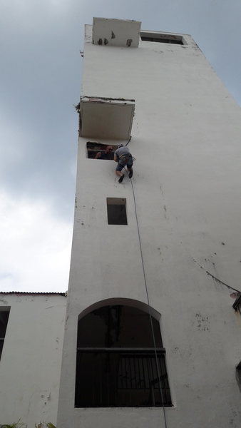 Rock Climbing Photo: Rappelling from buildings