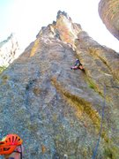 Rock Climbing Photo: P1 of the Conn route