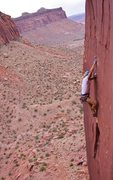 Rock Climbing Photo: On the FFA pulling into the cruxy tips finish. Pho...
