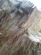 Rock Climbing Photo: The top half of Bobba Threat