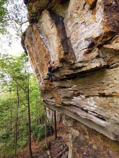 Rock Climbing Photo: Psycho Wrangler, NRG WV