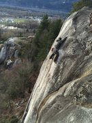 """Rock Climbing Photo: The guidebook refers to this part as the """"sti..."""