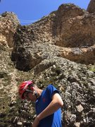 Rock Climbing Photo: Noah Stevens gearing up for the first ascent of &q...