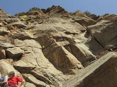 Rock Climbing Photo: LoTE, left of the 3.
