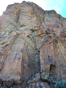 Rock Climbing Photo: Phone booth is middle bottom of picture. Line foll...