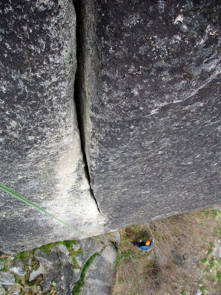 The awesome crack on Pitch 3. Wish it were twice as long!