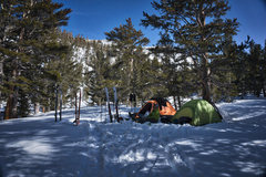 Rock Climbing Photo: Snow camping at Mosquito Flat - April 2017.