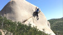 Rock Climbing Photo: Reaching for nothing. The rock is taller than what...