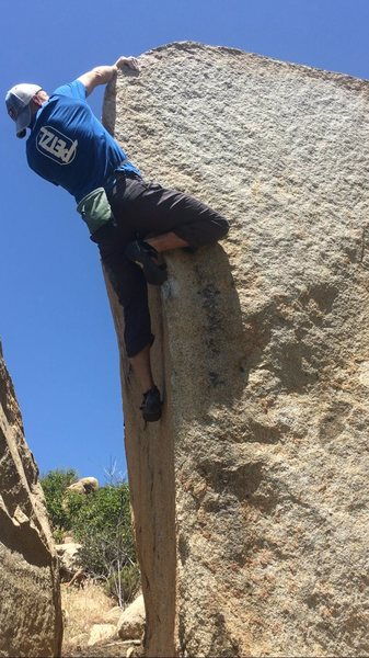 Rock Climbing Photo: Around the arete