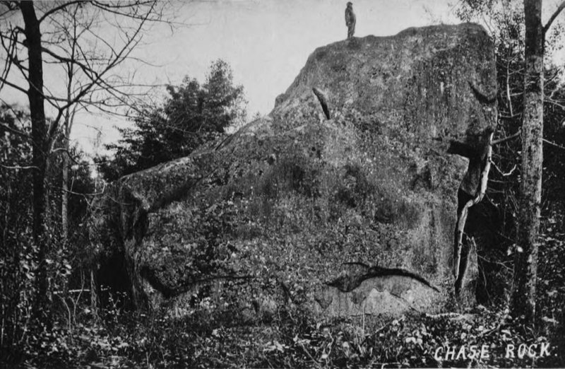Before The Yosemite Boulder was known as The Yosemite Boulder. It was known as Chase Rock, named after Erastus H. Chase. Erastus was the propietor of the area we call Boulder Natural and beyond. Photo mid 1860's to late 1870's.
