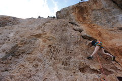 Rock Climbing Photo: Tiffany enjoying the CRAZY formations on this stel...