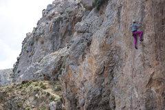 Rock Climbing Photo: Kiersten climbs Tomboy.