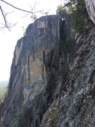 Rock Climbing Photo: The line viewed from Airation Butress