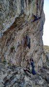 Rock Climbing Photo: On to the tufa.