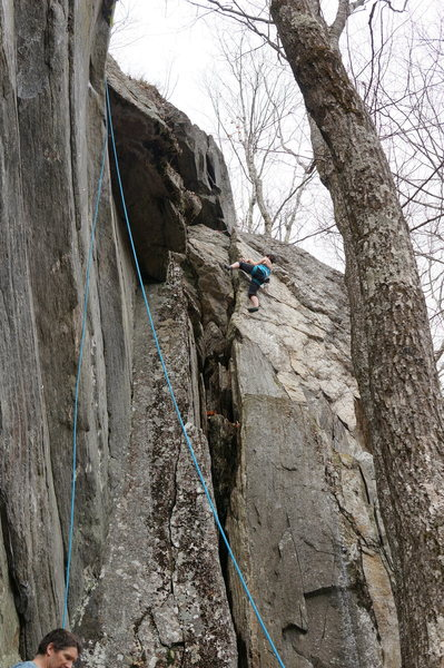 there is a 2nd set of laybacks if you don't know how to jam the 2nd crux