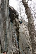Rock Climbing Photo: there is a 2nd set of laybacks if you don't ho...