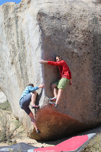 Rock Climbing Photo: Messing around on Pope's Prow