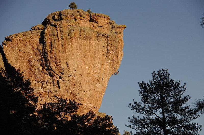 Rock Climbing Photo: The contour of Goliath.
