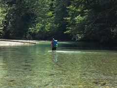 Rock Climbing Photo: Chilliwack river wading approach