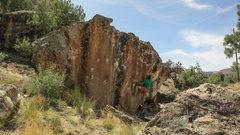 Rock Climbing Photo: Set for the big throw on Orange Crush.