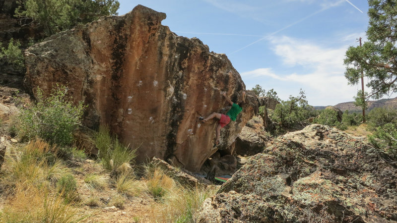 Rock Climbing Photo: Working through the good edges before the topout o...