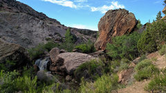 Rock Climbing Photo: One of the nicer creekside spots along Nine Mile H...