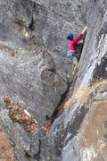 Rock Climbing Photo: 1st pitch of NW passage