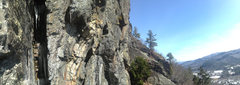 Rock Climbing Photo: Nice cold day on this amazing cliff. Rumpus time, ...