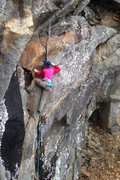 Rock Climbing Photo: Torie... and in the bottom right the entrance to t...