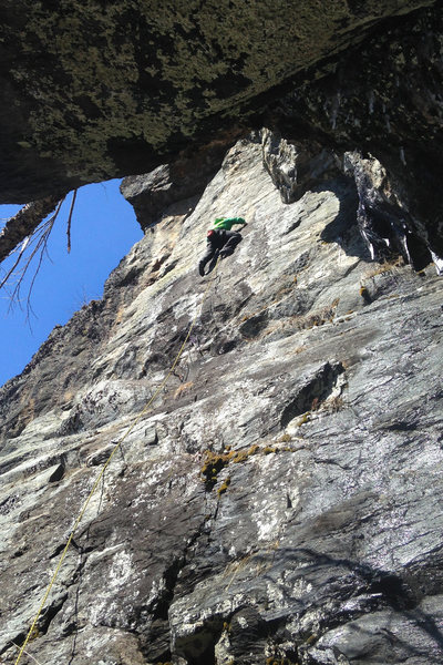 Rock Climbing Photo: rumpus time from the cave belay
