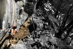 Rock Climbing Photo: Starting up Techno on the first warm day of the ye...