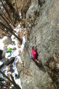 Rock Climbing Photo: Torie shines on