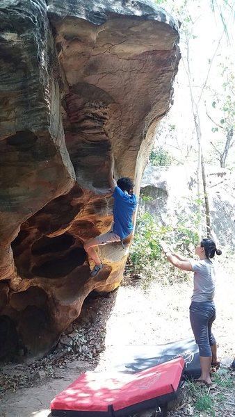Rock Climbing Photo: Bon on Egg shell Direct