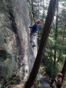 Rock Climbing Photo: Steepish start to 'Men are Apples..'  Good...