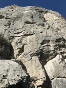 Rock Climbing Photo: Center of wall. Defining features: Huge boulder wi...