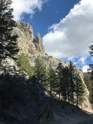Rock Climbing Photo: Looking up canyon from near parking area. Can'...