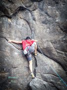 Jayant at the crux section