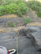 Rock Climbing Photo: Looking down from the anchor, Lineal