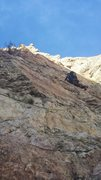 Rock Climbing Photo: Heading up Nine in Black. This is the much-preferr...
