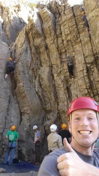 Rock Climbing Photo: Best job I ever had at BYU. TA for the rock climbi...