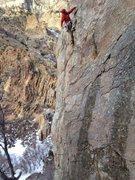 Rock Climbing Photo: First trad climb