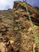 Rock Climbing Photo: Relocated bolt during replacement: the flake was h...