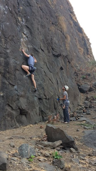 Rock Climbing Photo: Thibault on Slit