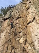 Rock Climbing Photo: Kendra Stritch climbing Gem.