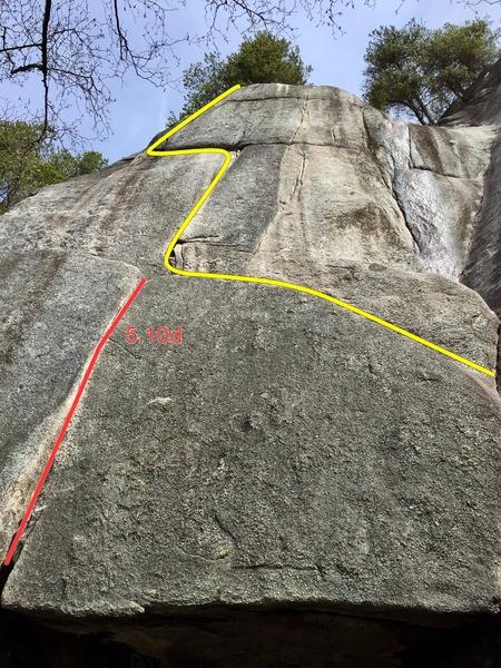 Rock Climbing Photo: Clandestine Affair Topo