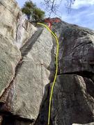 Rock Climbing Photo: Quarryman Topo