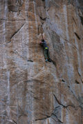 Rock Climbing Photo: Skyler sticking the amazing double pocket feature ...