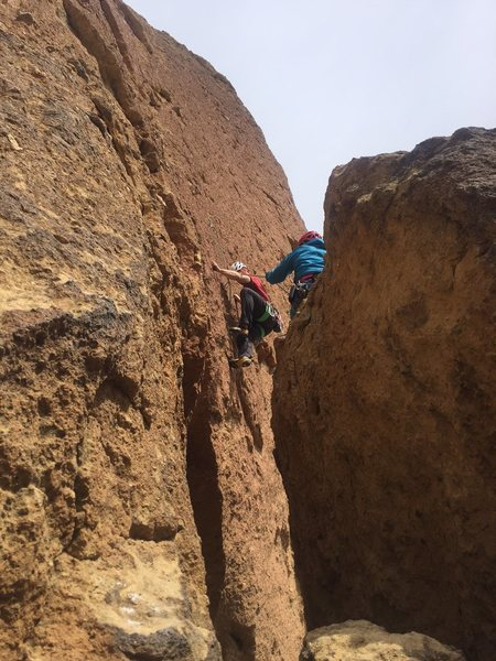 Rock Climbing Photo: The first step, nice and airy! Ignore my arm under...